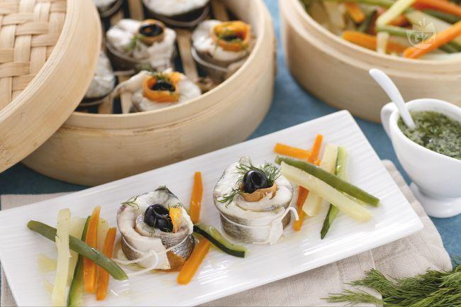 Ricetta branzino al vapore con verdure la ricetta di - Cucina a vapore ricette ...