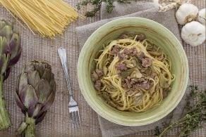 Ricetta Spaghetti con ragù bianco ai carciofi