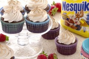 Cupcake fiamma al Nesquik