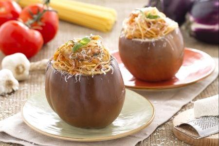 Melanzane ripiene di spaghetti alla norma