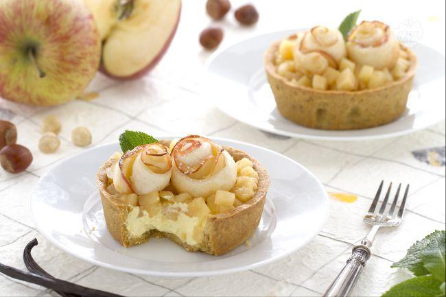 Crostatine con composta di mele