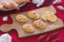 Spianatine con gamberetti aglio olio e peperoncino