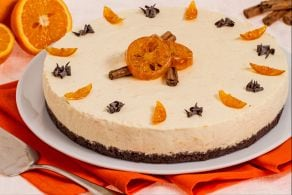 Cheesecake arancia e cannella