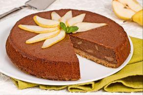 Cheesecake cioccolato e pere