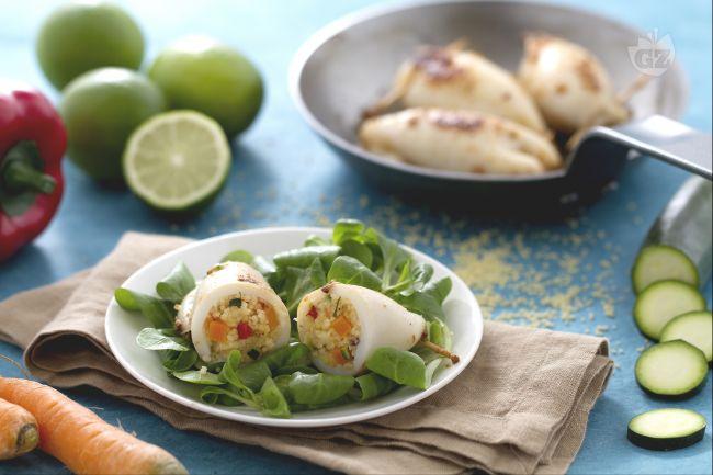 Calamari ripieni di couscous