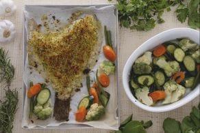 Ricetta Rombo gratinato con verdure