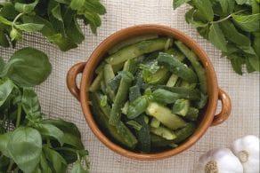 Insalata di zucchine alla menta e basilico