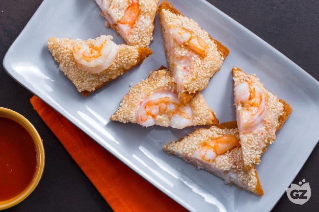 Ricetta toast di gamberetti al sesamo la ricetta di for Menu cinese ricette