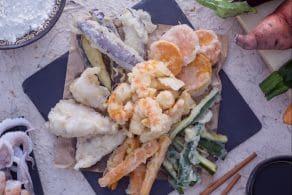 Ricetta Tempura di calamari e verdure