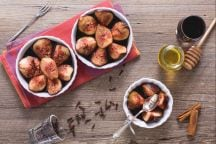 Fichi in salsa di vino rosso, miele e cannella