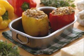 Ricetta Peperoni ripieni di ricotta, melanzane e pinoli