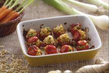 Pomodorini gratinati ripieni di bulgur
