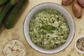 Ricetta Risotto al pesto di zucchine e caprino