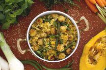 Couscous con verdure e polpettine di pesce