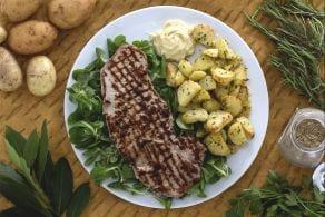 Ricetta Paillard con patate e maionese al cumino