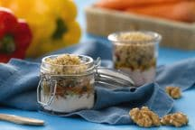 Mini crumble alle verdure e yogurt