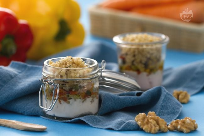 Mini crumble alle verdure e yogurt