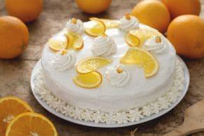 Ricetta Torta all'arancia con crema allo yogurt