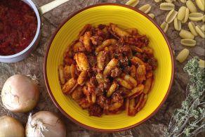 Ricetta Gnocchi sardi al ragù di salsiccia
