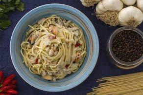 Ricetta Spaghetti fagioli e cozze