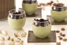 Cremoso al pistacchio con crumble al cacao