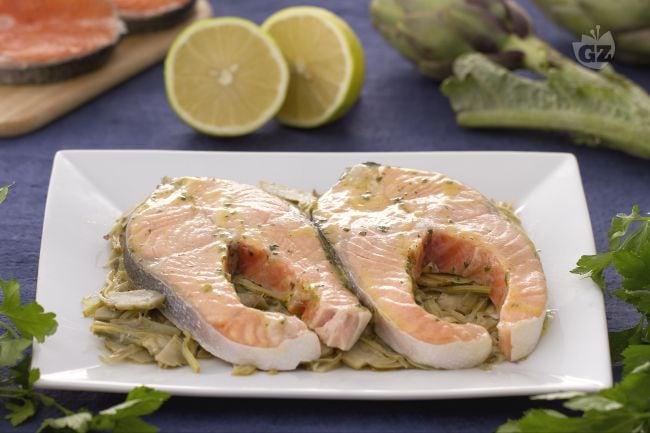 Salmone alla limoncina