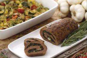 Rollè di macinato con teglia di verdure