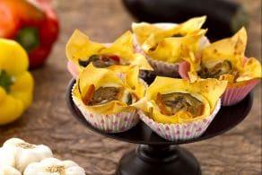 Lasagne vegetariane cupcake