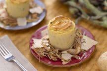 Sformatino di patate con insalata di carciofi