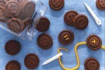 Biscotti bottoni al cacao