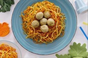 Ricetta Nidi di patate con polpettine
