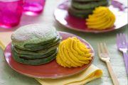 Pancakes agli spinaci con crema di zucca