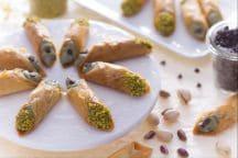 Cannoli di pasta fillo al pistacchio
