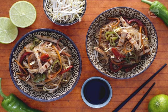 Spaghetti di soia all'orientale