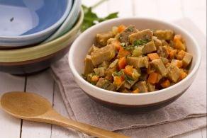 Ricetta Spezzatino di seitan con verdure stufate