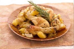 Pollo rustico con patate