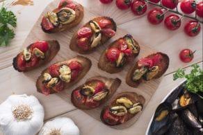 Ricetta Crostini di cozze e pomodorini