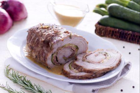 Arrotolato con crudo, fontina e zucchine grigliate