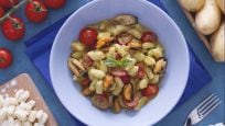 Chicche con pomodorini pesto e cozze