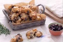 Frittelle di baccalà con uvetta