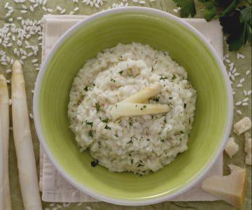 Risotto alla crema di asparagi bianchi