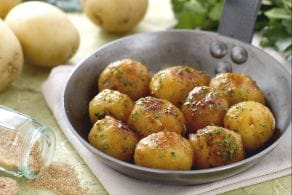 Patatine novelle caramellate