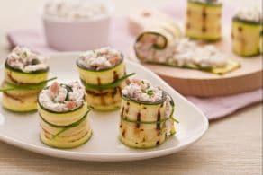Ricetta Rotolini di zucchine con crudo e robiola