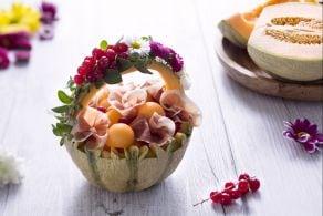 Cestini di prosciutto e melone