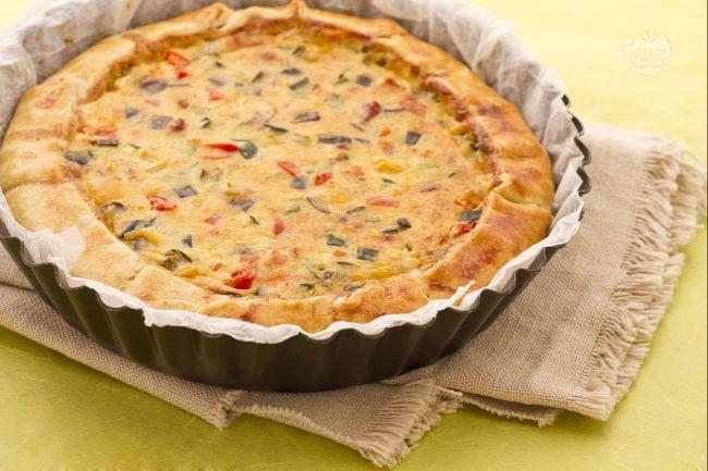 Torta salata di verdure al forno