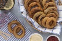Anelli di cipolla in pastella