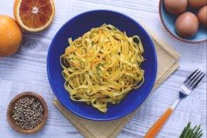 Ricetta Tagliatelle all'arancia
