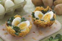 Ricetta Nidi di patatine con uova