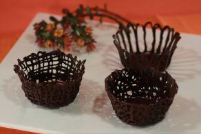 Cestini di cioccolato