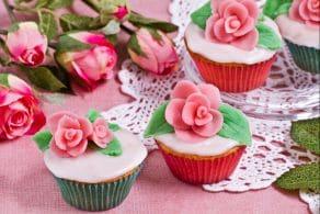 Ricetta Cupcake con le rose